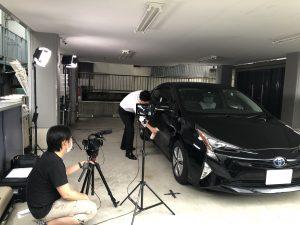 車洗車用品の紹介動画撮影